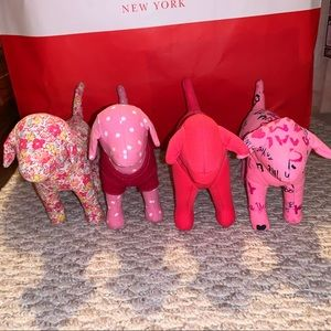 4 Pink Mini Dogs - Great Condition